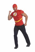 Picture of The Flash Adult Mens Muscle Shirt & Mask