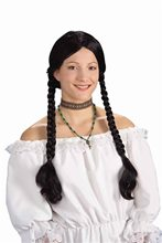 Picture of Renaissance Peasant Wig with Long Pigtails