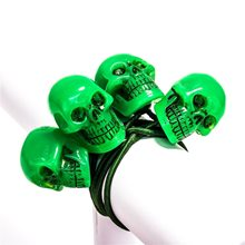 Picture of Skull Ponytail Bands 2ct (More Colors)