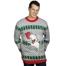 Picture of Unicorn Rudolph Adult Ugly Christmas Sweater
