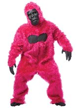 Picture of Pink Furry Gorilla Adult Mens Costume