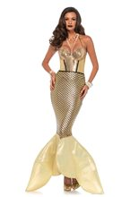 Picture of Golden Glimmer Mermaid Adult Womens Costume