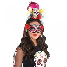 Picture of Day of the Dead Sugar Skull Headband