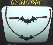 Picture of Gothic Bat Peel and Stick Necklace and Bracelet