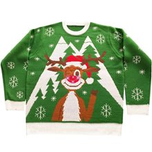 Picture of Turn Me On Reindeer Adult Ugly Christmas Sweater