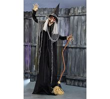 Picture of Life-Sized Maggy Spooky-Eyed Witch Animated Prop