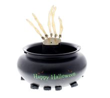 Picture of Animated Skeleton Hand in Cauldron Candy Bowl