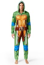 Picture of TMNT Leonardo Adult Mens Onesie with Hood