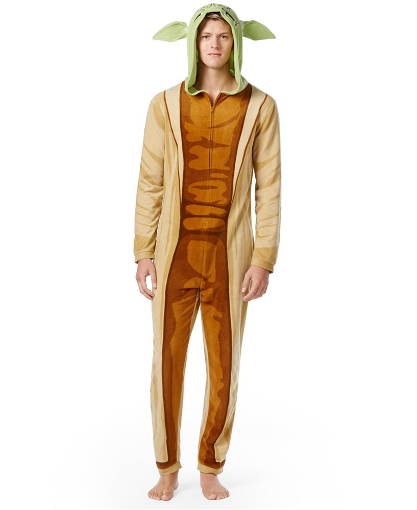 Picture of Star Wars Yoda Adult Mens Onesie with Hood