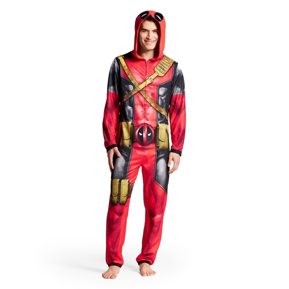 Picture of Deadpool Adult Mens Onesie with Hood