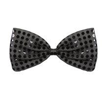 Picture of Glitz N Gleam Black Large Bow Tie