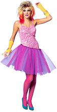 Picture of 80s Glam Rockstar Girl Adult Womens Costume