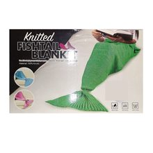 Picture of Green Mermaid Fin Knitted Adult Blanket