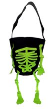 Picture of Green Dangly Feet Skeleton Basket