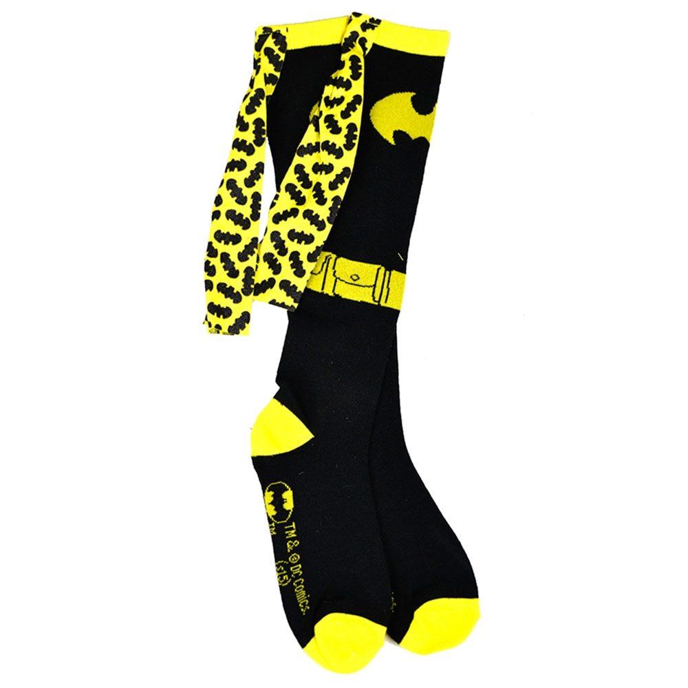 Picture of Batman Yellow & Black Shiny Cape Socks
