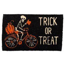 Picture of Trick or Treat Black Coir Doormat