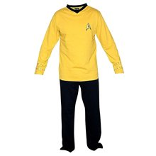 Picture of Star Trek Yellow Captain Kirk Adult Mens Onesie