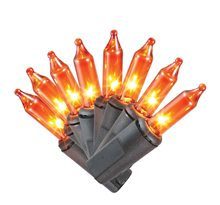 Picture of Orange Halloween Mini Lights 70ct