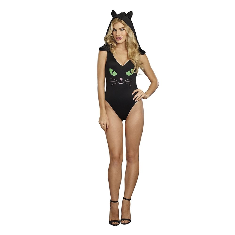 Picture of Glow in the Dark Pretty Kitty Adult Womens Bodysuit