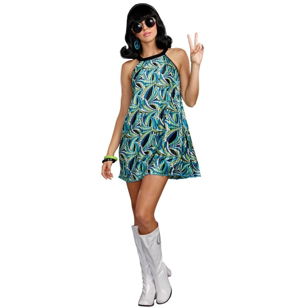 Picture of 60s Beat Goes On Dress Adult Womens Costume