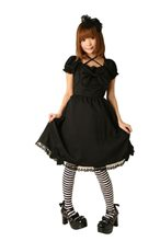 Picture of Bitter Chocolate Goth Dress Adult Womens Costume