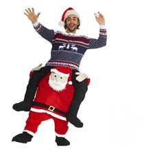 Picture of Santa Claus Piggyback Adult Unisex Costume