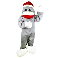 Picture of Sock Monkey Super Deluxe Adult Unisex Costume