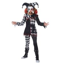 Picture of Creepy Jester Girl Child Costume