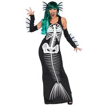 Picture of Mermaid Skeleton Siren Adult Womens Costume