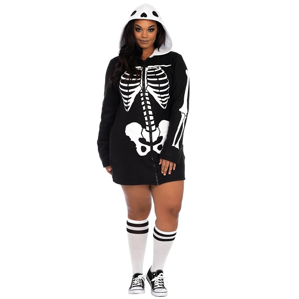 Picture of Cozy Skeleton Dress Adult Womens Plus Size Costume