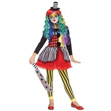 Picture of Freak Show Clown Dress Child Costume