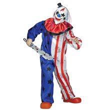Picture of Stars & Stripes Evil Clown Child Costume