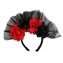 Picture of Day of the Dead Rose Headband