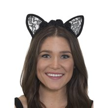 Picture of Cat Lace Ears Headband with Flowers