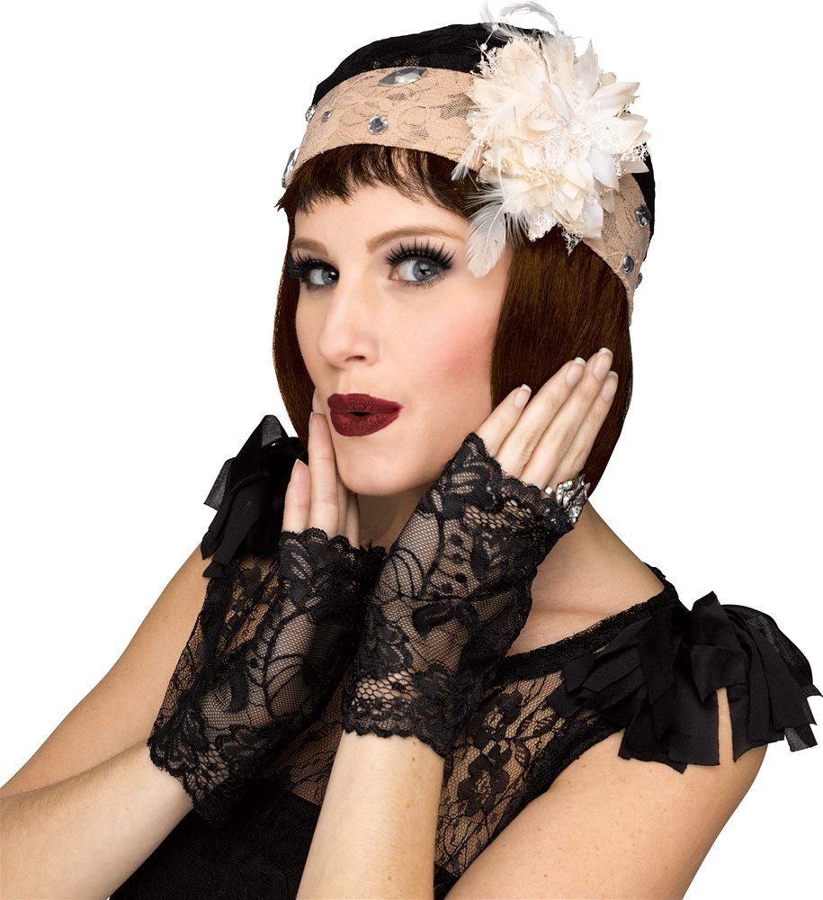 Picture of 1920s Flapper Cloche & Gloves Set