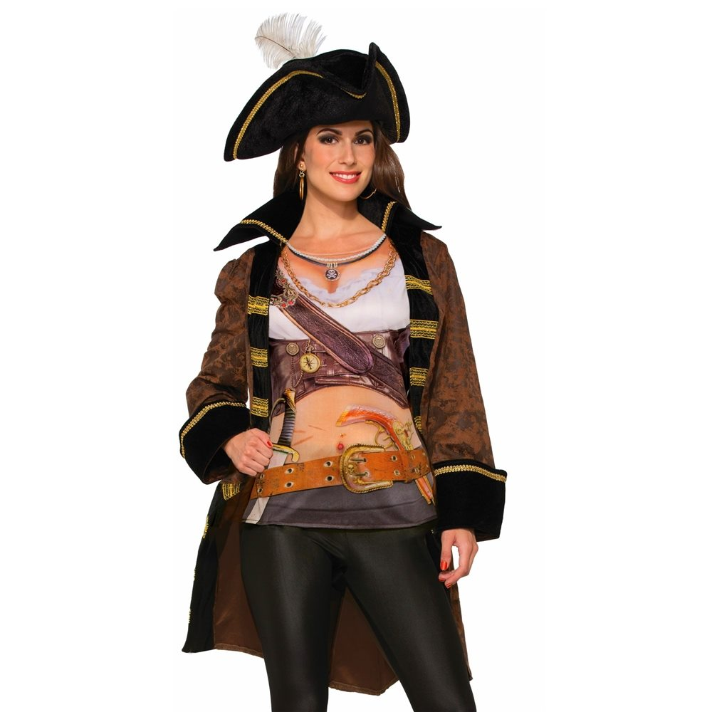 Picture of Miss Buccaneer Adult Womens Jacket & Shirt Set