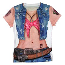 Picture of Instant Cowgirl Adult Womens T-Shirt