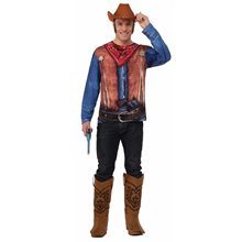 Picture of Instant Cowboy Adult Mens Shirt