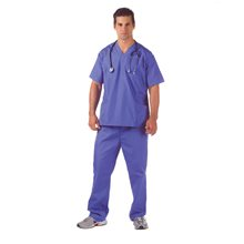 Picture of Hospital Scrubs Adult Mens Plus Size Costume