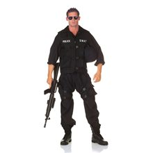 Picture of SWAT Officer Jumpsuit Adult Mens Plus Size Costume