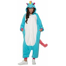 Picture of Blue Rainbow Unicorn Adult Unisex Onesie