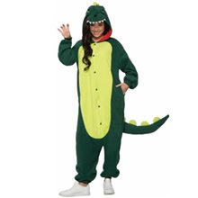 Picture of Green Dinosaur Adult Unisex Onesie