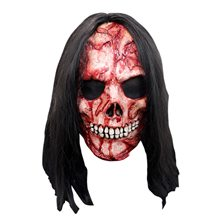 Picture of Bloody Corpse Mask with Hair