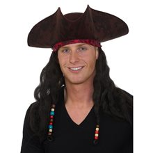 Picture of Caribbean Pirate Hat with Hair