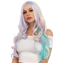 Picture of Rainbow Pastel Long Wavy Wig