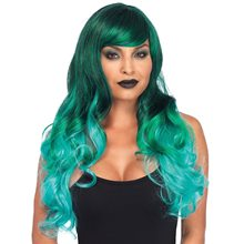 Picture of Green Ombre Long Wavy Wig