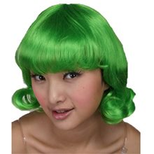 Picture of Happy Candy Worker Green Wig