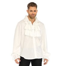 Picture of White Ruffled Front Adult Mens Shirt