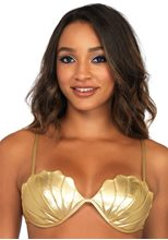 Picture of Gold Mermaid Shell Bra Top