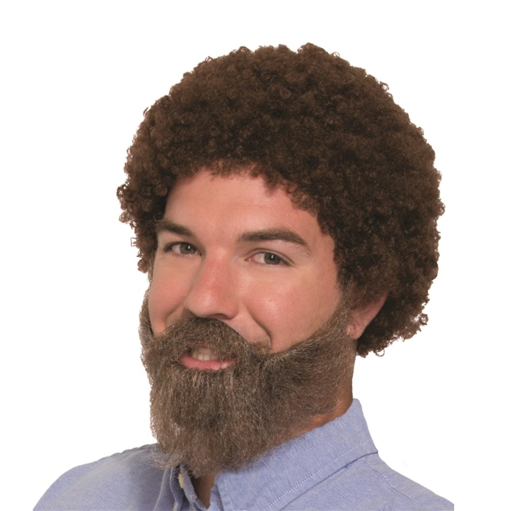 Picture of 80s Bob the Painter Wig, Beard and Moustache Set